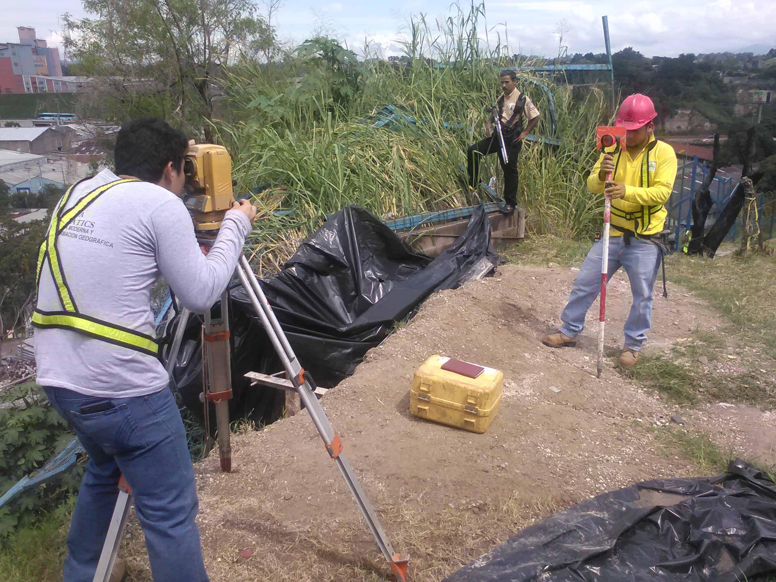 levantamiento topográfico de cárcava El Salvador Alfa Geomatics