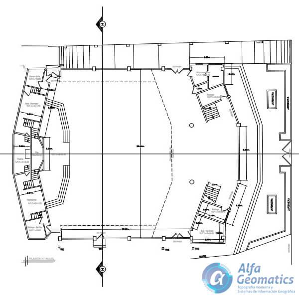 Levantamiento arquitectónico iglesia bautista miramonte Alfa Geomatics
