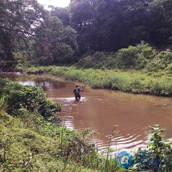 Levantamiento topográfico de río Alfa Geomatics El Salvador