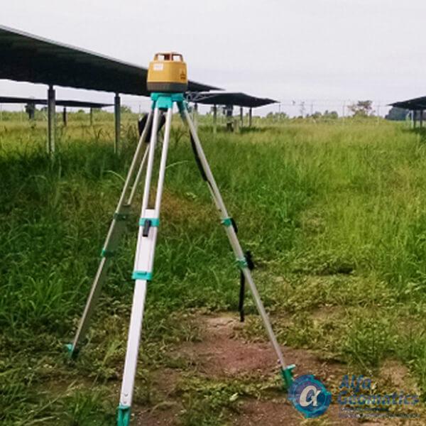 Planta solar cangrejera nivelación topográfica Alfa Geomatics