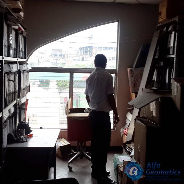 Levantamiento arquitectónico de locales condominios cuscatlán Alfa Geomatics