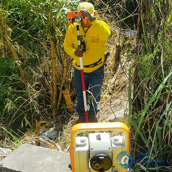 Levantamiento topográfico puente Agua Caliente MOP Alfa Geomatics