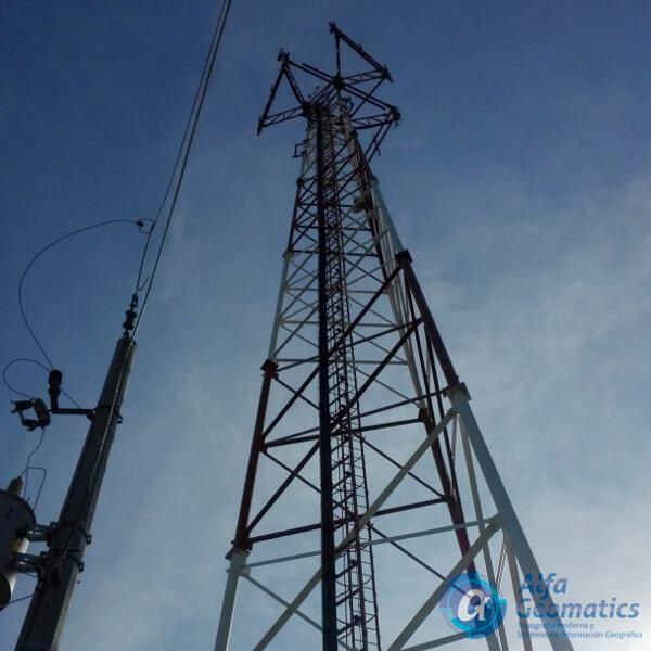 Control de verticalidad en torres de telecomunicación Alfa Geomatics